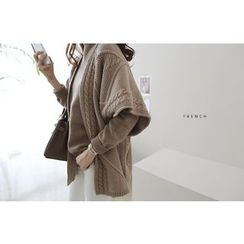 DAILY LOOK - Open-Front Cable-Knit Cardigan