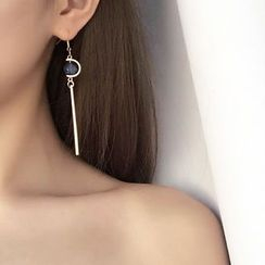 Hoseki - Bead Non-Matching Drop Earrings