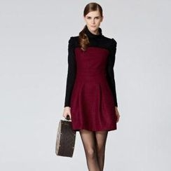 O.SA - Turtleneck Plaid A-Line Dress