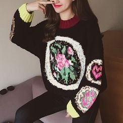 Cocofield - Patterned Thick Sweater