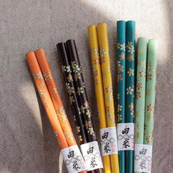 Timbera - Set of 5: Floral Chopsticks