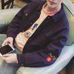 ZZP HOMME - 刺繡鈕扣夾克
