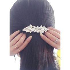 kitsch island - Faux-Pearl Rhinestone Hair Pin