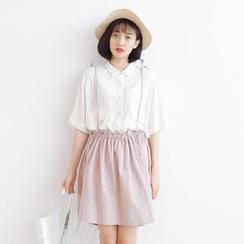 Forest Girl - Frill Trim Suspender Skirt