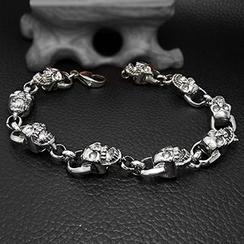 Andante - Titanium Steel Skull Bracelet