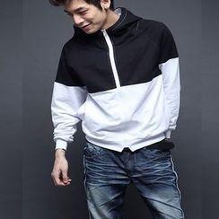 uninukoo - Color Block Hooded Jacket