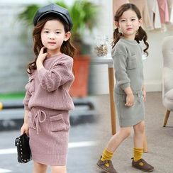 Pegasus - Kids Set : Knit Top + Skirt
