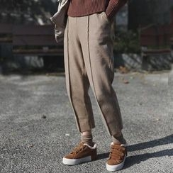 STILL YOU - Cropped Woolen Pants