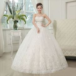 Gracia - Lace Ball Gown Wedding Dress