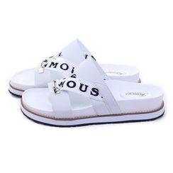 Ohkkage - Lettering Strap Slippers