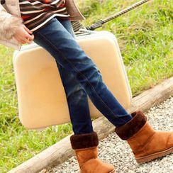 Tokyo Fashion - Elastic-Waist Washed Skinny Jeans