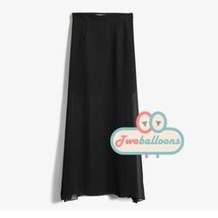 JVL - Slit-Side Chiffon Maxi Skirt