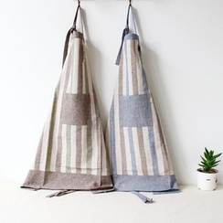 Gukan - Pinstripe Linen Cotton Apron
