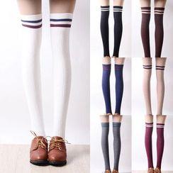Nikiki - Striped Trim Stockings