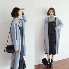 WITH IPUN - Open-Front Long Cardigan