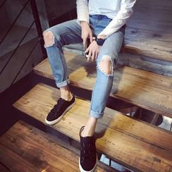 Soulcity - Distressed Slim Fit Jeans
