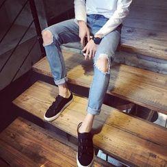 Soulcity - Distressed Slim Fit Jeans