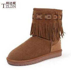 利達妮 - 流蘇短雪靴