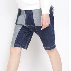 MUKOKO - 拼接牛仔短裤