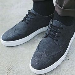 MITOSHOP - Wing-Tip Faux-Suede Sneakers