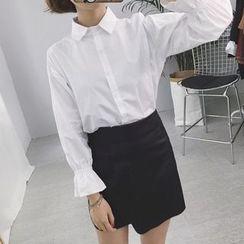 Eva Fashion - Bell-Sleeve Long-Sleeve Blouse