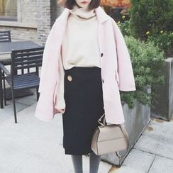 Eva Fashion - Wool Collared Coat