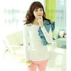 Dodostyle - Ribbed Long-Sleeve T-Shirt