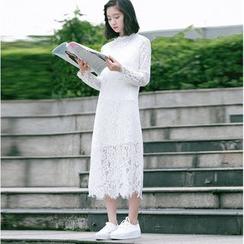 Racoon - Long-Sleeve Lace Dress