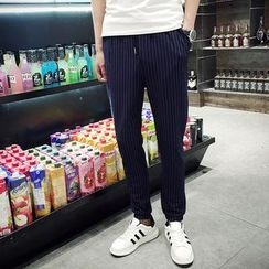 Hawoo - Striped Slim-Fit Pants