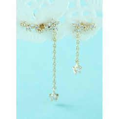 kitsch island - Star Rhinestone Drop Earrings