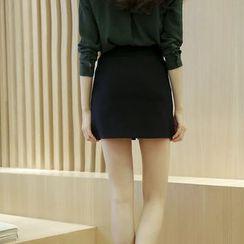 潞依韓 - 純色A字裙