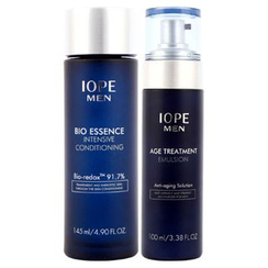 IOPE - Men Bio Set: Essence Intensive Conditioning 145ml + Age Treatment Emulsion 100ml