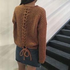 Shiga - 後繫帶粗織毛衣