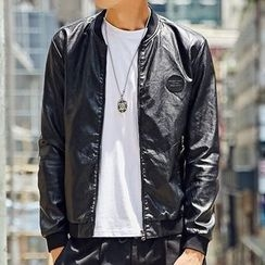 Maykor Jane - Faux Leather Bomber Jacket