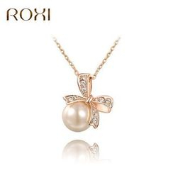 ROXI - Ribbon Pearl Necklace