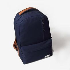 Mr.ace Homme - Contrast-Trim Canvas Backpack