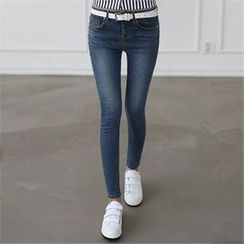 CHICFOX - Washed Skinny Jeans