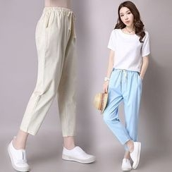 Diosa - Plain Drawstring Pants