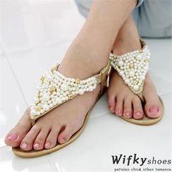Wifky - 飾珠套趾涼拖