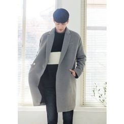 GERIO - Snap-Button Wool Blend Coat