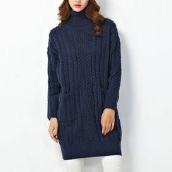 Showie - High Neck Long Sweater