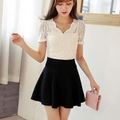 Loverac - Short-Sleeve Lace Top