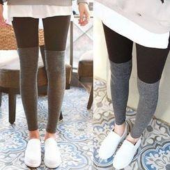Seoul Fashion - Color-Block Knit Leggings