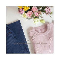 LEELIN - Floral Pattern Knit Top