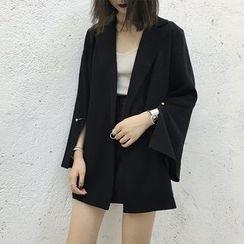 Bloombloom - Slit Sleeve Blazer