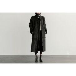 UPTOWNHOLIC - Faux-Shearling Long Jacket