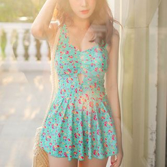 Sunglow - Floral Print Swimdress