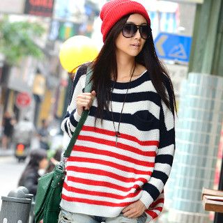 59 Seconds - Striped Knit Sweater