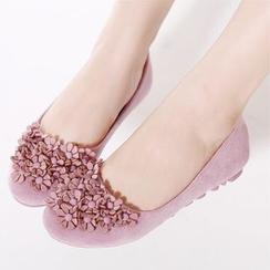 安若 - 印花平跟鞋
