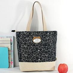 Ms Bean - Printed Cat Shopper Bag